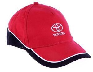 c8cfa2b8b3ffa Genuine Toyota Mens Womens Casual Red Black White Branded Baseball ...