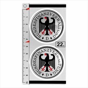 Berlin set of 2 German Number Plate Seal Stadt 3D Domed Resin Sticker Badge