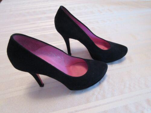 BUFFALO LONDON BLACK SUEDE WOMEN'S PLATFORM HIGH H