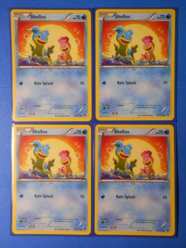 4x Shellos 28//114 Pokemon card XY Steam Siege common NM