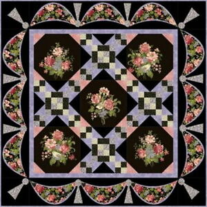 THE GARDEN GATE QUILT KIT ~Strikingly Romantic! Nature's Romance Floral Fabrics
