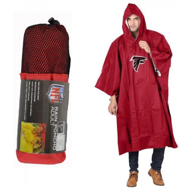 93d1e9110a7 New NFL Atlanta Falcons Reusable Adult Rain Poncho Hooded   Storage Pouch