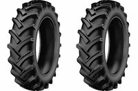 Two 7.50-18 7.50x18 Starmaxx-tractor Lug Tires & Tubes Heavy Duty 8ply Rated