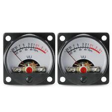 2 Set Vu 500a Panel Meter Analog Vu Meter Audio Level With Back Light Header