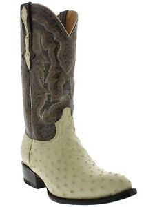 Mens Off White Western Cowboy Boots