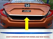 car dicky chrome garnish for honda JAZZ NEW MODEL