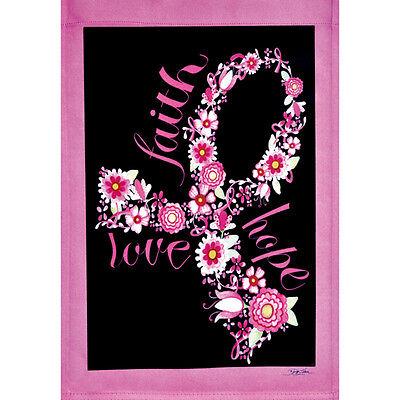 "Hope Garden Flag Breast Cancer Awareness 12.5/"" x 18/"" Briarwood Lane Love Faith"
