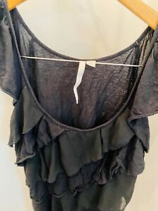 Womens-Lauren-Conrad-Black-Top-Size-Medium