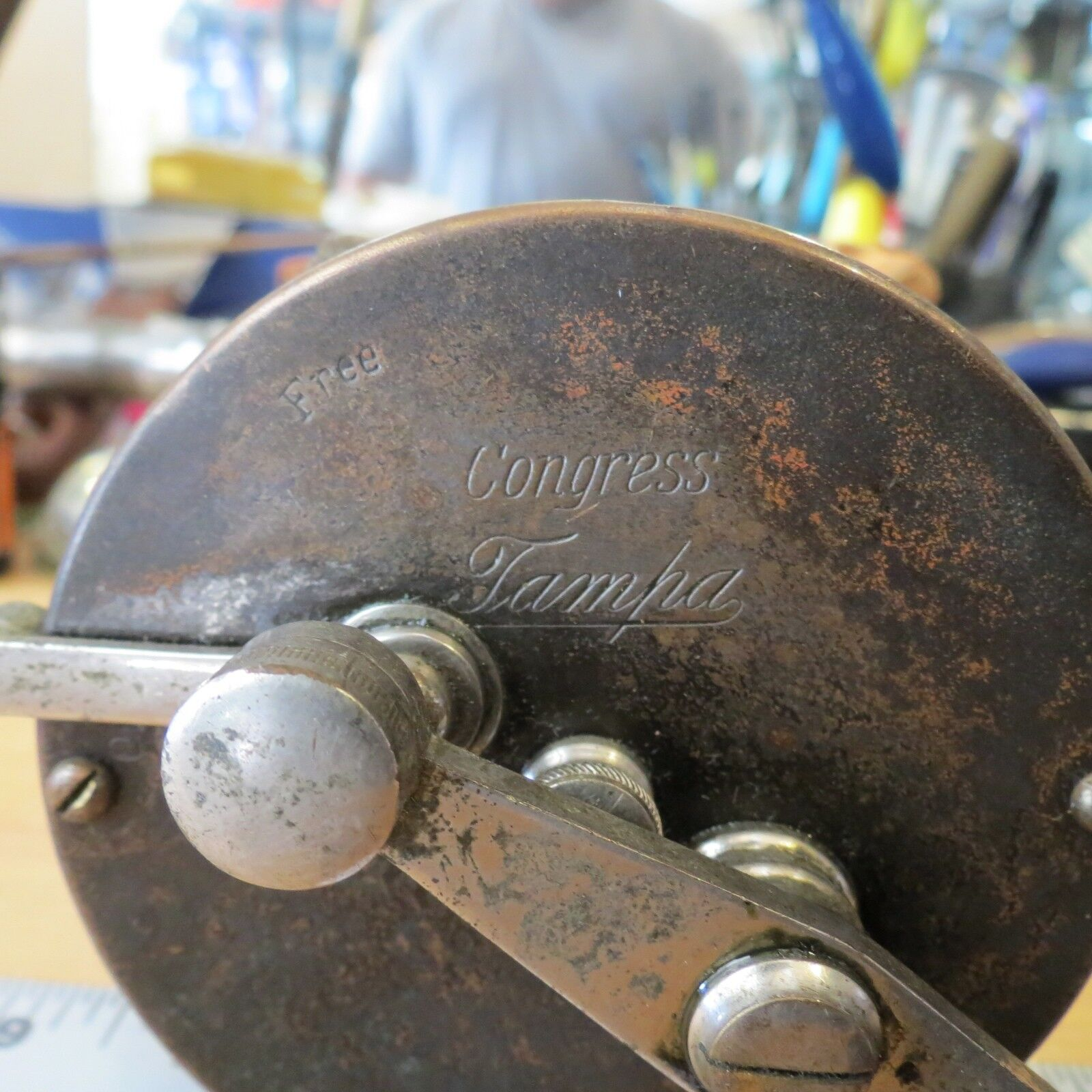 Antique Congress Tampa fishing reel (lot)