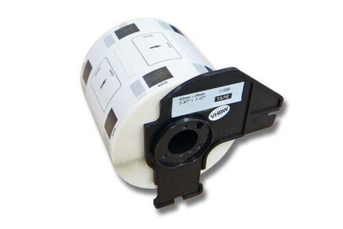 vhbw®800 DRUCKER ETIKETTEN 62x29mm STANDARD für BROTHER P-touch DK-11209