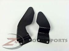 2002 2003 R1 Clutch Brake Rearset Foot Peg Mount Heel Guard Plate Carbon Fiber