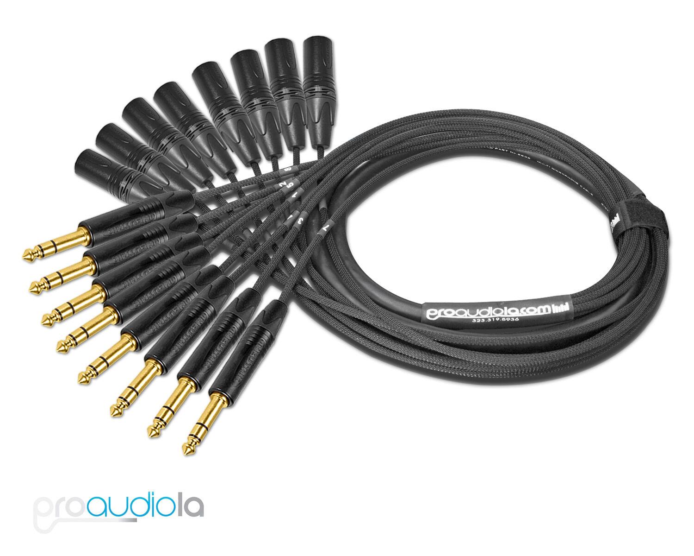 Premium Mogami 2932 8 Channel Snake   Neutrik Gold TRS XLR-M   70 Feet 70 ft 70'