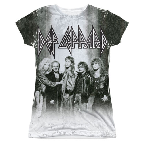 Details about  /DEF LEPPARD THE BAND Licensed Front Print Women/'s Junior Band Tee Shirt LARGE