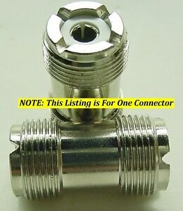 5 HIGH QUALITY DOUBLE MALE UHF BARREL CONNECTOR DOUBLE PL-259 FITS SO-239 FEMALE