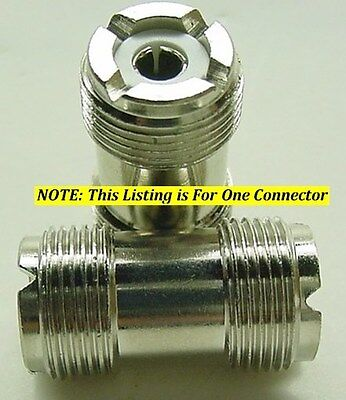 HIGH QUALITY DOUBLE FEMALE UHF BARREL CONNECTOR DOUBLE SO-239 FOR PL-259