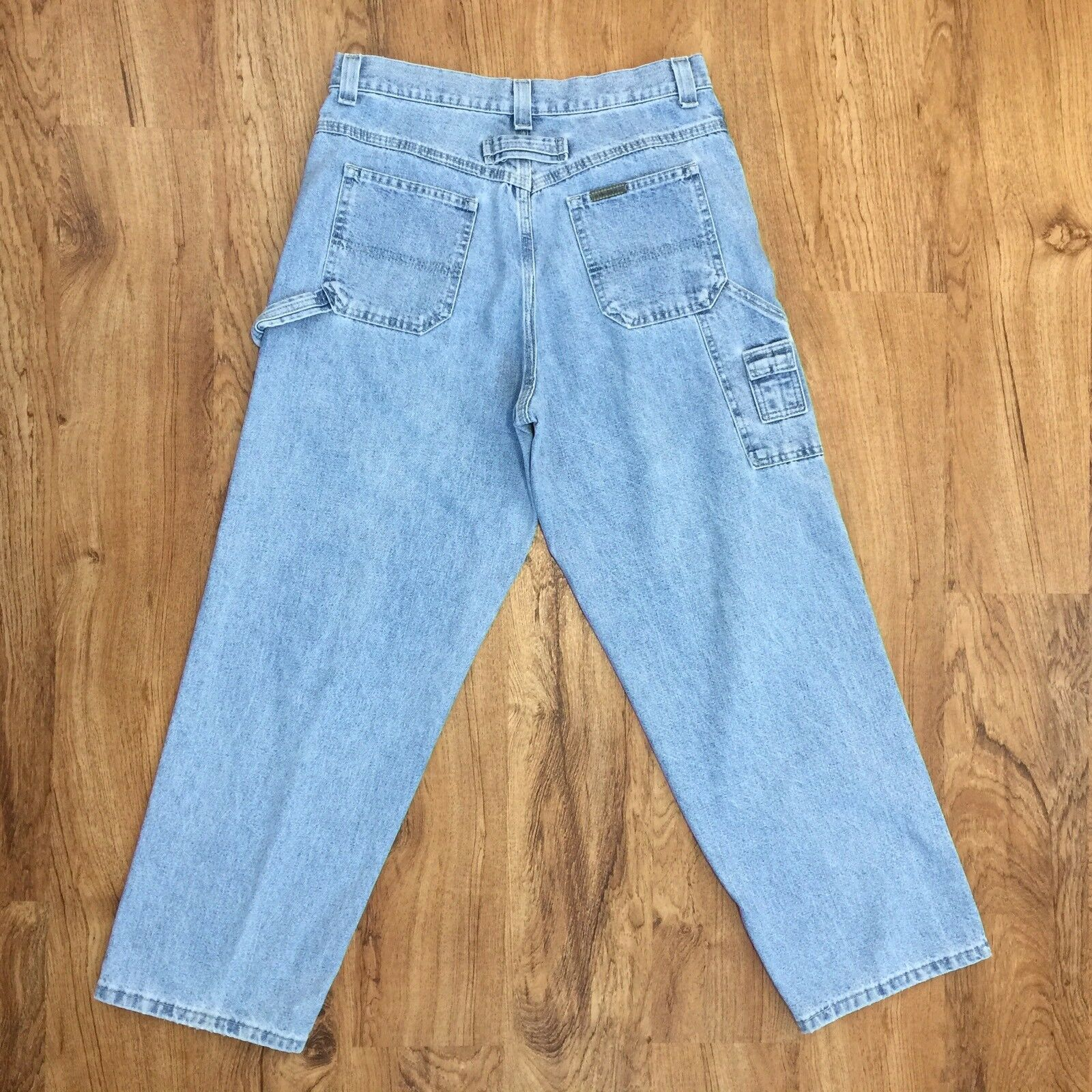 Vtg 90s Riveted By Lee Carpenter Jeans Stonewashed Made In USA Womens Size 10 P