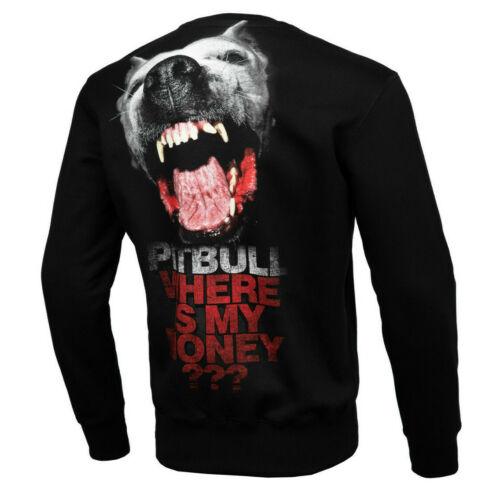 Bluse Sweatshirt Pit Bull West Coast PitBull Hooligans Where is my money Schwarz