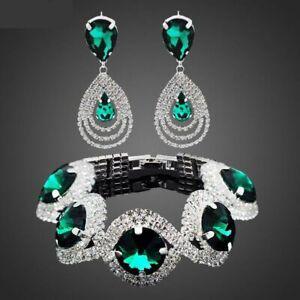 Rhinestone-Austrian-Crystal-Bridal-Jewelry-Set-Women-Fashion-Wedding-Accessories