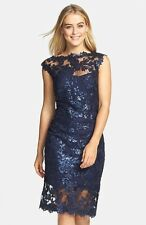 Tadashi Shoji Sequin Paillette Embroidered Lace Dress ( Size 8P)