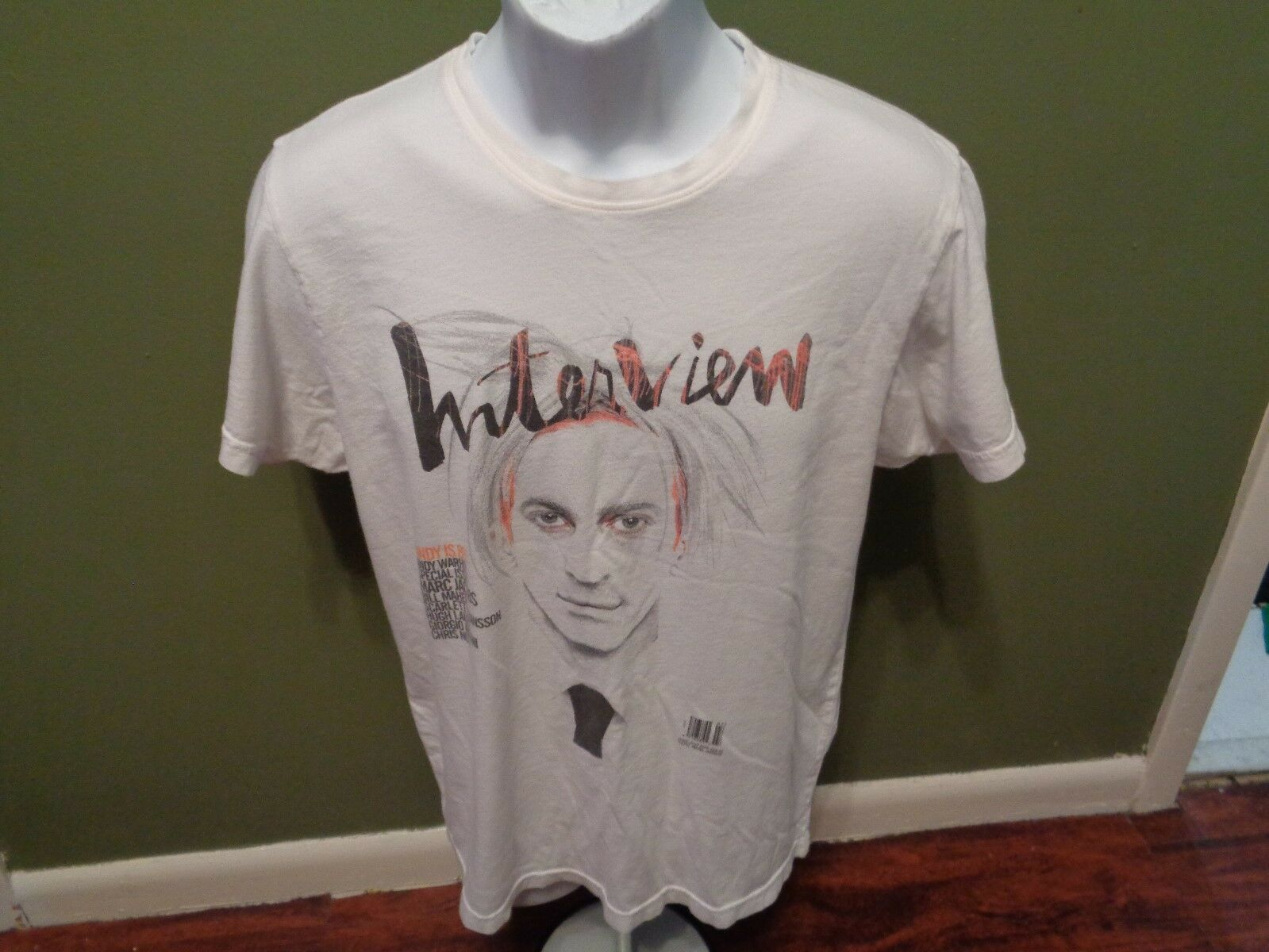 MARC JACOBS MEN'S ANDY WARHOL MUSEUM SPECIAL ISSUE OF PITTSBURGH SIZE MEDIUM