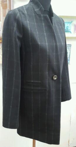 NERA OMBRA controllato NEXT misto lana cappotto di intaglio su Misura Taglie 8 a 20