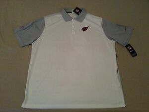 86e0903b Mens New Nike Arizona Cardinals Polo Shirt 2XL XXL White Gray ...