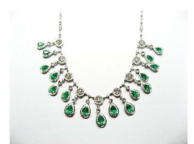 LIQUIDATION CLEARANCE!$45000 MAGNIFICENT 18KT GOLD 13CT EMERALD DIAMOND NECKLACE