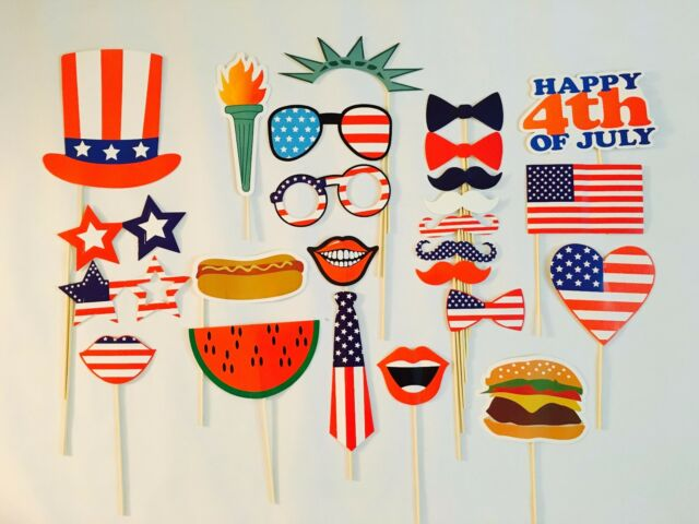 Usa Sales 4th Of July Photo Booth Props Independence Day Party