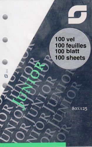 Succes Junior Notizpapier Notizblätter A7 BLANKO 100 Blatt Notizen Einlagen XJ52