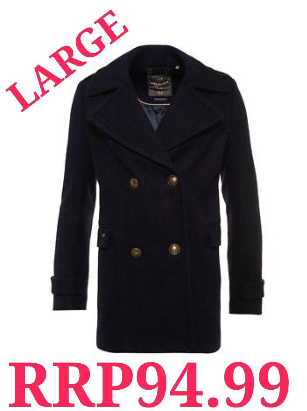 Nuevo PVP .99 Gran  Tamaño 14 Classic Pea abrigo de invierno para mujer de súperdry Azul marino BNWT  genuina alta calidad