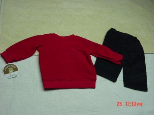 NWT Infant Boys 2 piece Carter/'s Outfit Christmas Santa Corduroy Pants Holiday