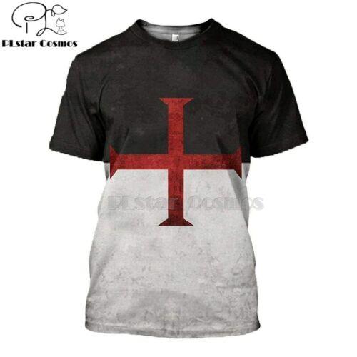 PLstar Cosmos All Over Printed Knights Templar 3d t shirts tshirt tees Winter