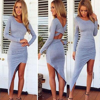 Sexy Ladies Summer Long Sleeve Boho Chiffon Long Maxi Evening Party Beach Dress