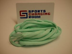 Mint-Green-Shoe-laces-football-boots-trainers-120cm-semi-circle
