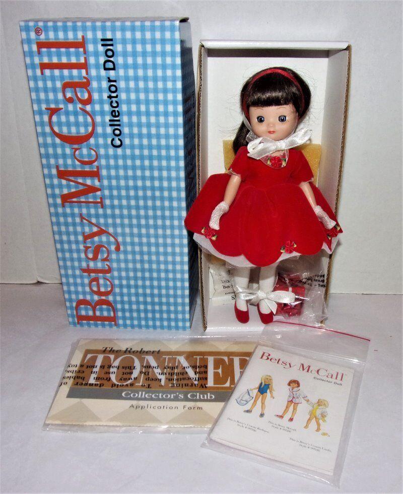 ROBERT TONNER BETSY MCCALL 8  DOLL ORIGINAL BOX & PAPERS HOLIDAY CHRISTMAS