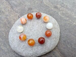 Round-Sardonyx-Agate-Beads-8-mm-Genuine-Natural-Pack-Of-10-1-mm-Hole