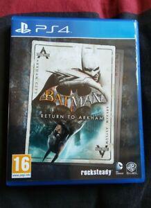 Jeu PS4 - Batman Return to Arkham (Arkham Asylum + Arkham City) - VF