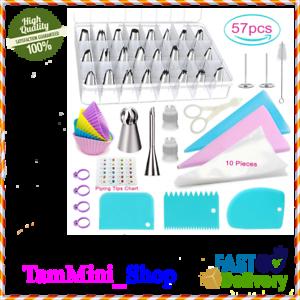 57Pcs Kit de decoración para tartas de cocina Boquillas Rusas Reposteria Duyas