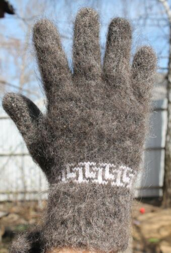 Men/'s GLOVES goat down fluffy Mohair Warm soft comfortable size M-L