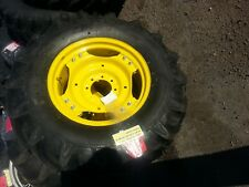 Two 136x24 R 1 8 Ply John Deere 1050 Tractor Tires Wheels With Centers