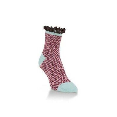 Worlds Softest Lace Mini Crew Womens Socks Winter Polyester 6-10 New