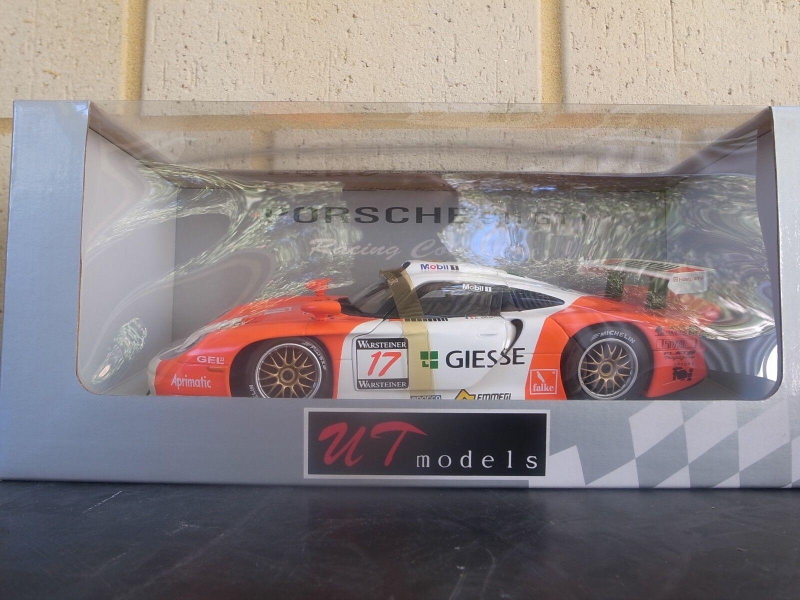 UT Models 1 18 Scale diecast 16MAY2018D8 Porsche 911 GT1 Giesse