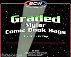 200 Graded Mylar Comic Book Bags - 2 Mil - NEW - CGC CBCS SLAB 9 Inches Wide