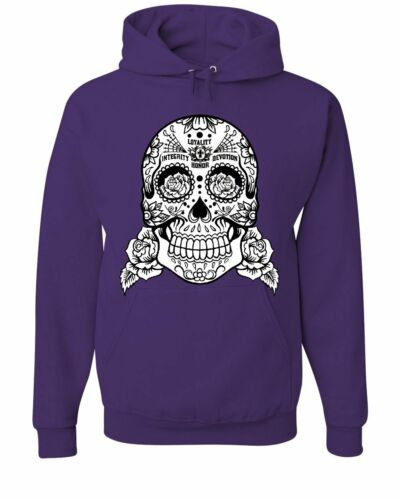 Sugar Skull Hoodie Loyalty Integrity Devotion Honor