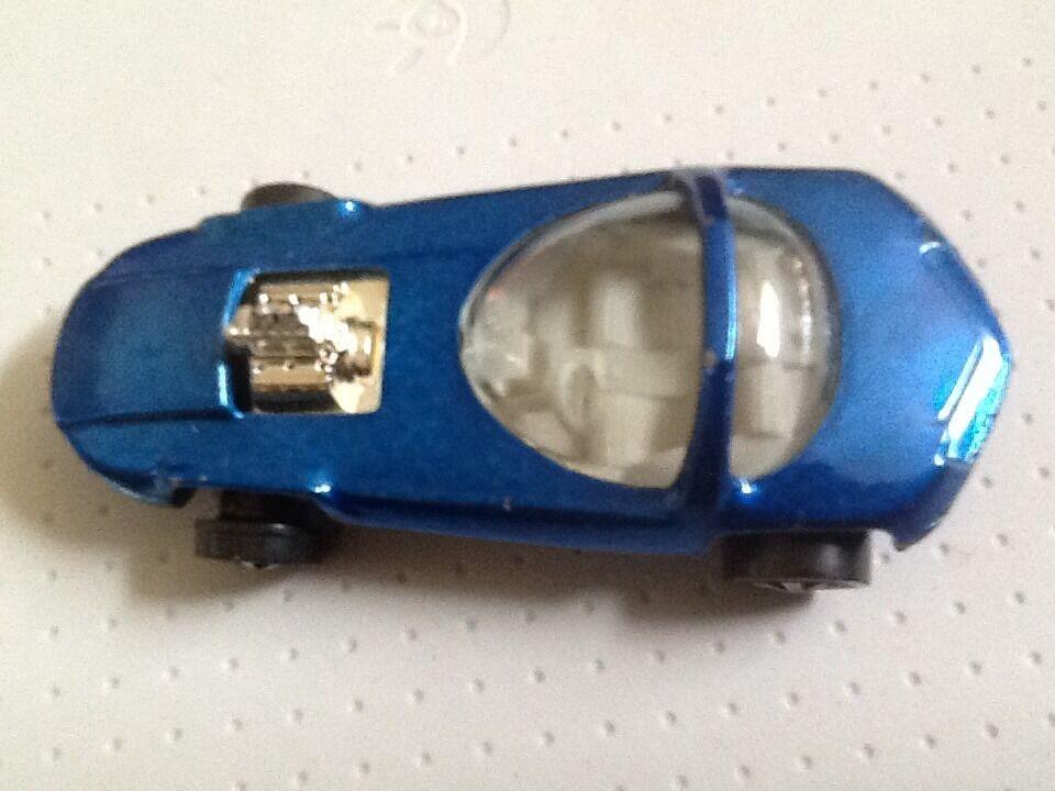 VINTAGE 1967 HOT WHEELS rossoLINE blu SILHOUETTE DIECAST CAR MATTEL