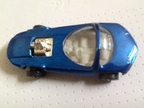 VINTAGE 1967 HOT WHEELS REDLINE BLUE SILHOUETTE DIECAST CAR MATTEL