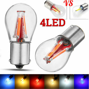4-LED-1157-BAY15D-Red-COB-Bulb-Lamp-Car-Reverse-Turn-Singal-Rear-Light-12-24V