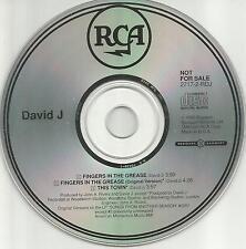 Bauhaus DAVID J Fingers In the Grease REMIX & UNRELEASED PROMO DJ CD Single 1990