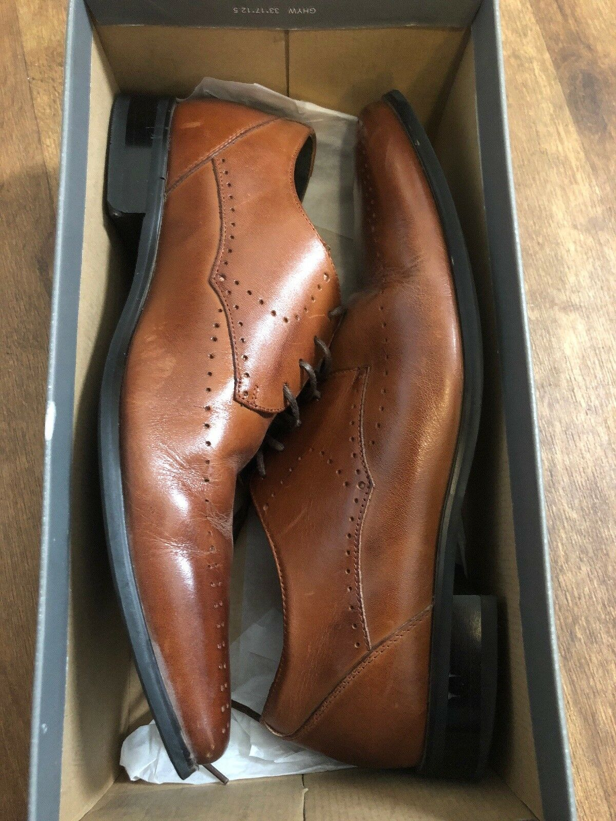 Stacy Adams Men's Atwell Lace Up Oxford Cognac Brown Size 9 M US