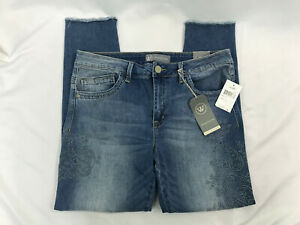 Wit-amp-Wisdom-Womens-Embroidered-Seamless-Ankle-Skimmer-Jeans-Size-12-NWT